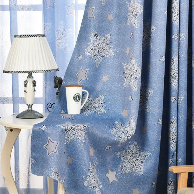 US $13 62 |European curtains shade curtains bright stars living room  bedroom curtains shadow screen 096-in Curtains from Home & Garden on