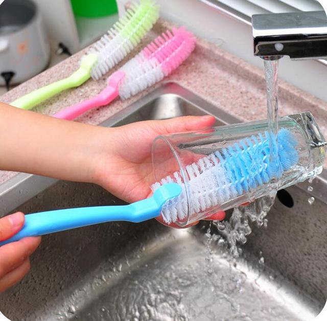 Powerful Cup Brush Bottle Cleaning Hand Use Soft Bristles Cups Clean Cylindrical appliance