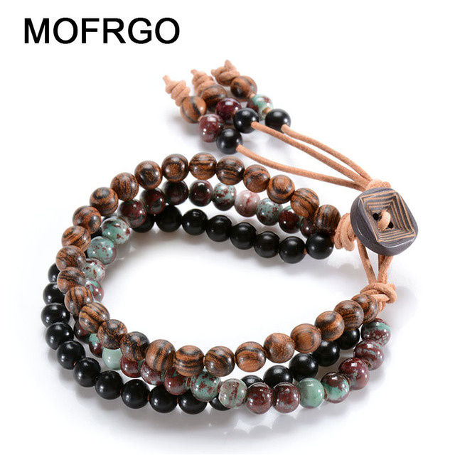 Ceramics Bracelet 6mm*108 Beads Handmade Chinese knot Bracelet Personalized accessories Women/Men zd4sr