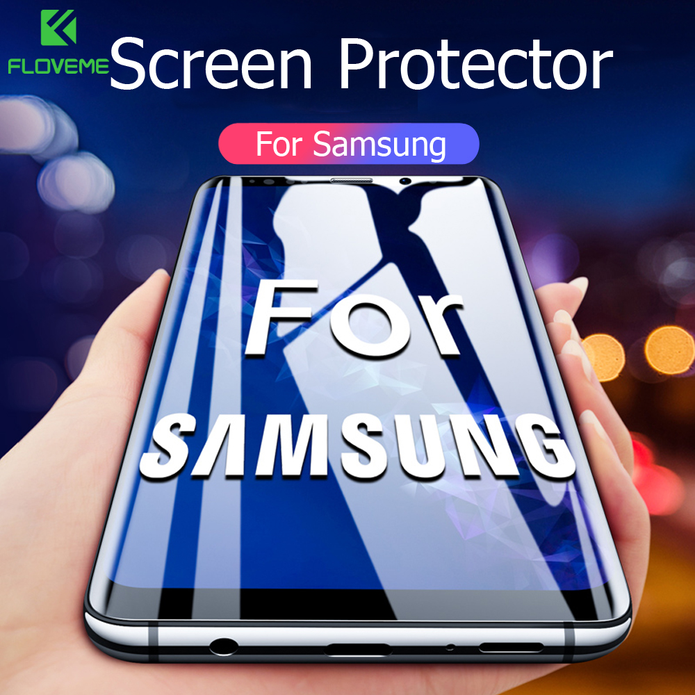 FLOVEME Screen Protector For Samsung S10 Plus S10e S9 S8 Plus Full Cover Soft Protective Film For Samsung Galaxy S9 S8 Note 9 8