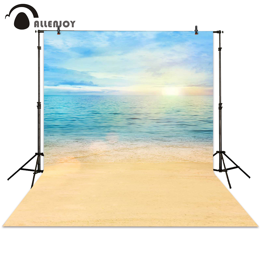 Allenjoy photography backdrop sunrise beach sea sunshine sky background photocall photographic photo studio wedding
