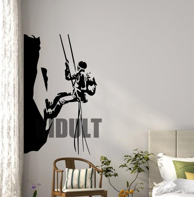 Rock Climbing Wall Decals Stick Vinyl Household Indoor Decorative ...