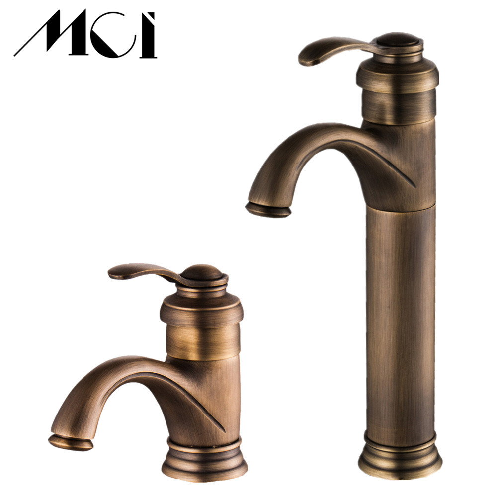 Antique Brass Faucet Bathroom Faucets crane Sink Basin Mixer Tap Mci