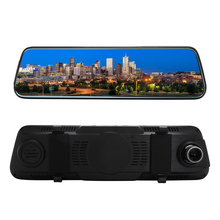 Touched Screen 1080P Car DVR Stream RearView Mirror Auto Dash Camera Dual Lens Recording Recorder Camcorder