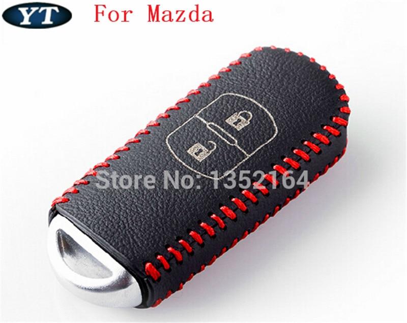 Γνήσιο κάλυμμα κλειδιού δερμάτινης θήκη, θήκη κλειδιού αυτοκινήτου, κλειδί για Mazda 3 Mazda 6 2014 2015, cx 5 cx 7, cx 9, αξεσουάρ αυτοκινήτων