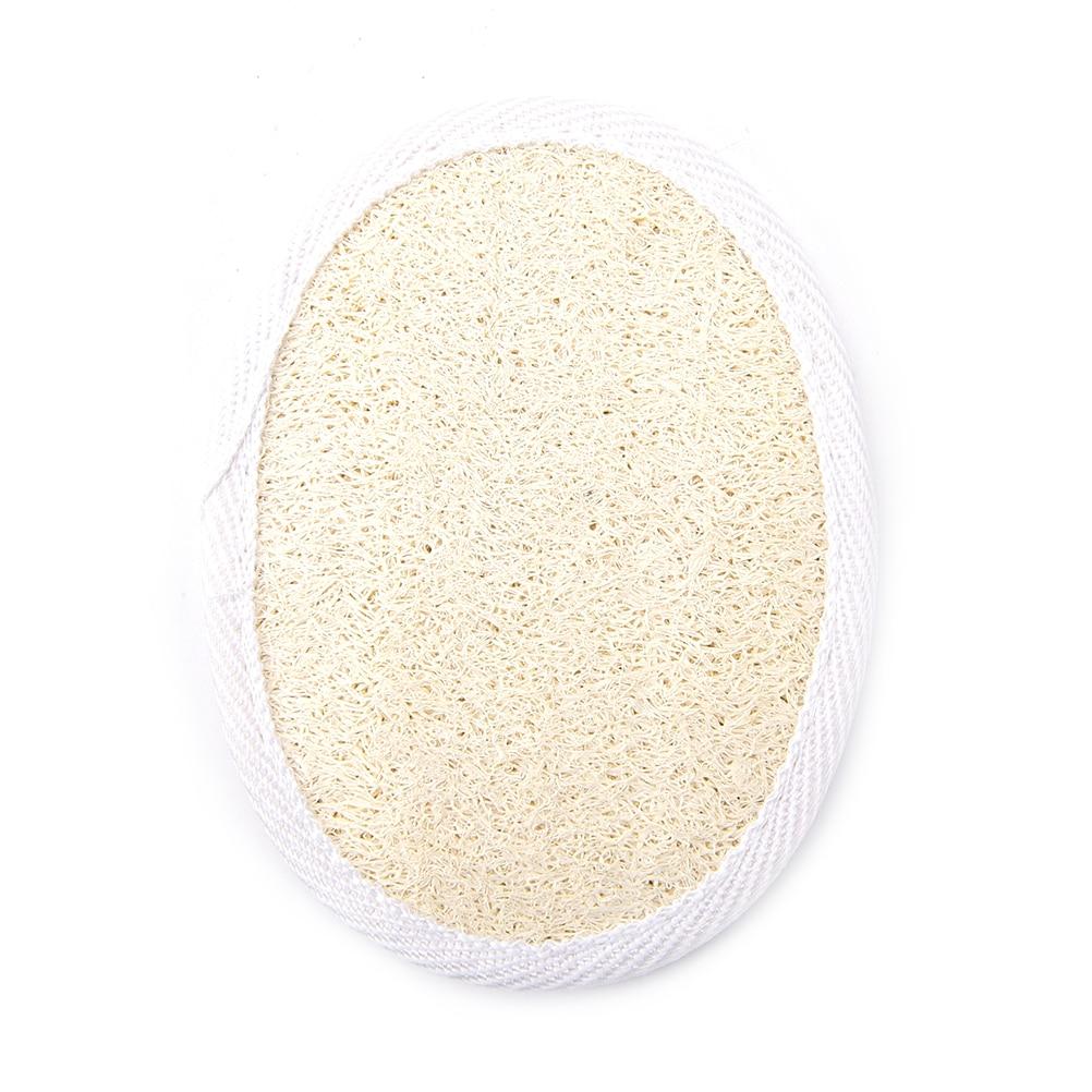 Natural Exfoliator Shower Bath Brush Massager Luffa Effective Spa Sponge White Polyester Bag Edge Back Body Cleaning Loofah