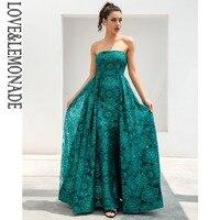 Love & лимонад зеленый геометрический две части тонкий длинное платье LM81216