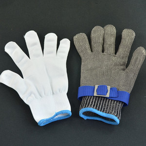 Image 5 - New 1 Pcs Cut Resistant Stainless Steel Gloves Working Safety Gloves Metal Mesh Anti Cutting For Butcher Worker