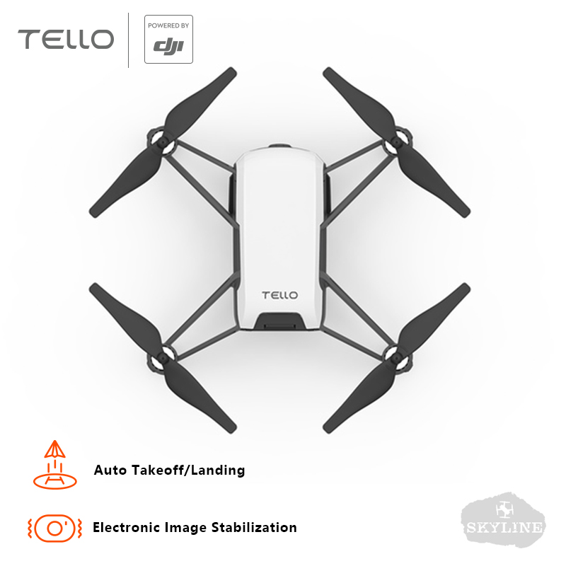 DJI Tello Caméra Drone Mini Drones 720 p HD Transmission APP Contrôle Pliage Jouet FPV Quadcopter Tirez Quick Vidéos avec EZ Coups