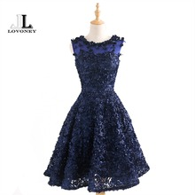 LOVONEY 2017 New Arrival Knee Length Short Cocktail Dresses Women Special Occasion Dresses Cocktail Party Dress Gown T424