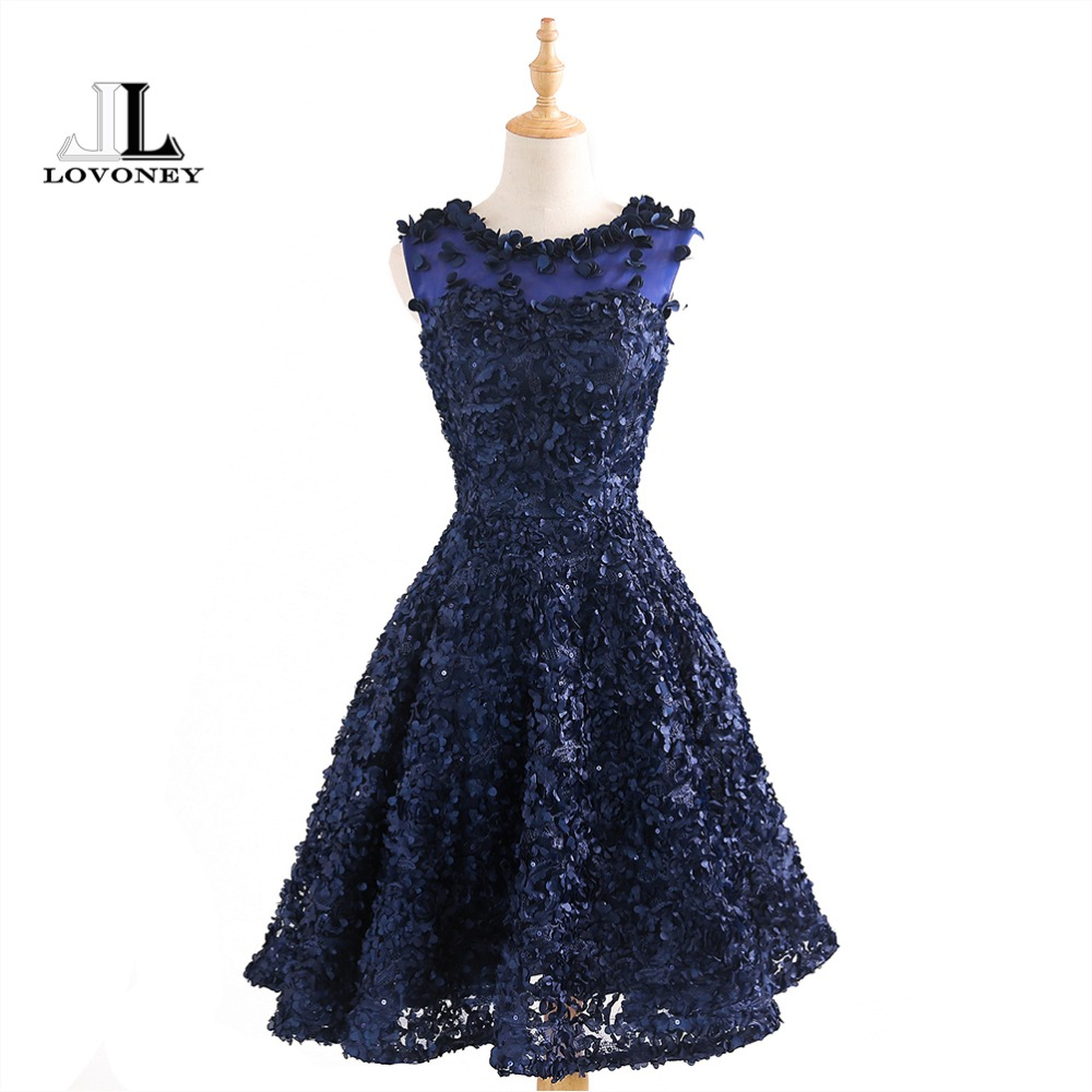 Conscientious Lovoney 2019 New Arrival Knee Length Short Cocktail Dresses Women Special Occasion Dresses Cocktail Party Dress Gown T424 Attractive Designs; Cocktail Dresses