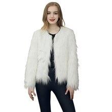 2016 Winter Warm Faux Fur Coats Women Jacket Long Sleeve Fur Jacket Elegant Soft Fluffy Overcoat Female Outerwear Cardigan Plus