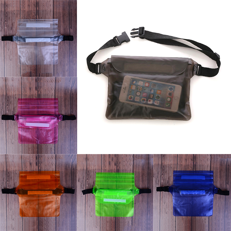 Waist Bag Swimming Drifting Pouch Underwater Diving Surfing Waist Pack Waterproof Sports Bag Dry Shoulder Backpack Phone Pocket