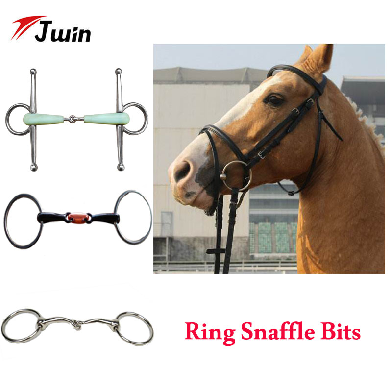 Stainless Steel Horse Mouth Bit Horse Mouth Piece Equestrian Snaffle Copper Link Bit Horse Racing Accessory