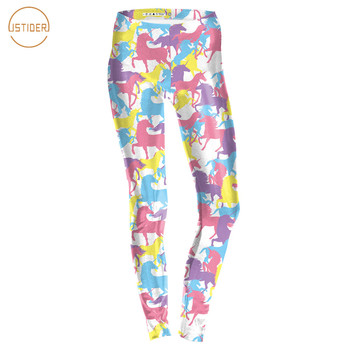 ISTider New Fashion Leggings Women Camouflage Cartoon Unicorn 3D Printed Fitness Leggins Slim Elastic Trousers Pants Legging Лосины
