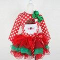 Los Bebés de la navidad Torta de la princesa tutu Vestido de Invierno Vestidos de Punto Rojo Embroma la Ropa Los Niños Ropa de Fiesta De Navidad Del Traje