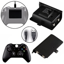 2 аккумулятора 2400 мАч+ USB кабель для XBOX ONE контроллер комплект для зарядки беспроводной геймпад джойпад перезаряжаемый резервный аккумулятор
