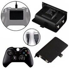 2×2400 мАч батареи + кабель USB для xbox один контроллер зарядки комплект Беспроводной геймпад Перезаряжаемые резервный Аккумуляторный блок
