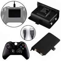 2x2400 mAh Batterien + USB Kabel Für XBOX ONE Controller Lade Kit Wireless Gamepad Joypad Aufladbare Backup-Batterie pack