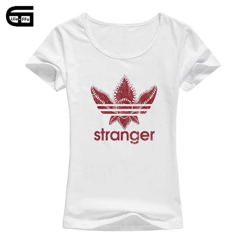 2018 summer Women's short sleeve Stranger Things T-Shirt cute girl Tops Girl fashion cool casual Tee Mujer B26