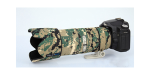 Image 5 - ROLANPRO Objektiv Camouflage Mantel Regen Abdeckung für Canon EF 70 200mm F 2,8 L IST II USM Objektiv schutz Hülse Guns Fall Outdoor Tasche