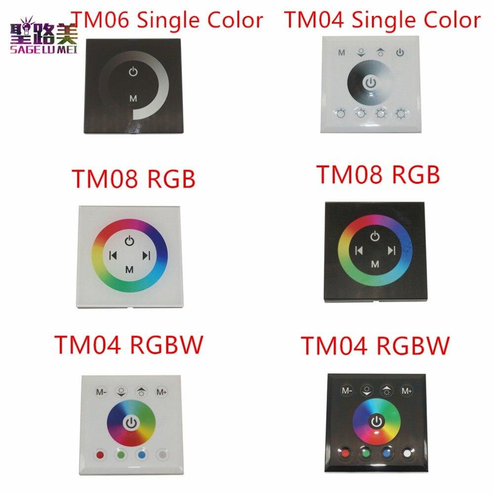 DC12V-24V RGB/RGBW einzigen farbe wand montiert Touch Panel Controller glas panel dimmer Controller für LED RGB Streifen lampe