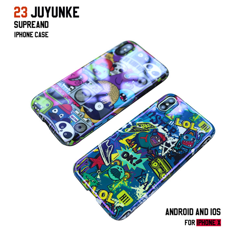 For iPhone Xs Max Blu-ray phone shell cartoon XS / XR all-inclusive set small monster iPhone7 8plus case