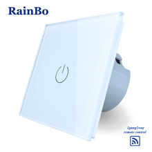 Rainbo táctil Smart Home switch pantalla panel de cristal interruptor de pared de la UE interruptor AC110 ~ 250 V interruptor de luz de pared 1gang1way A1913W/B(China)