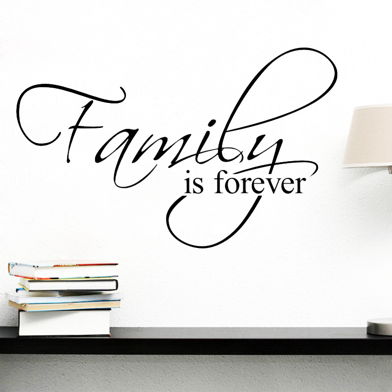 Family Is Forever Quotes Wall Decals for Living Room Bedroom Home Decorative Stickers Diy Vinyl Wall Mural Art 1