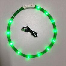 Pet Dogs Cats USB Rechargeable Flashing Night Collars Luminous Collar LED Light Dog Glowing Teddy Flash P