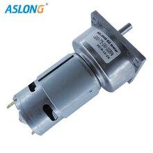 цена на ASLONG factory supply  JGB60-775   24V 775 DC MOTOR WITH 60MM GEAR BOX  300RPM HIGH TORQUE REDUCER MOTOR 8MM D TYPE SHAFT