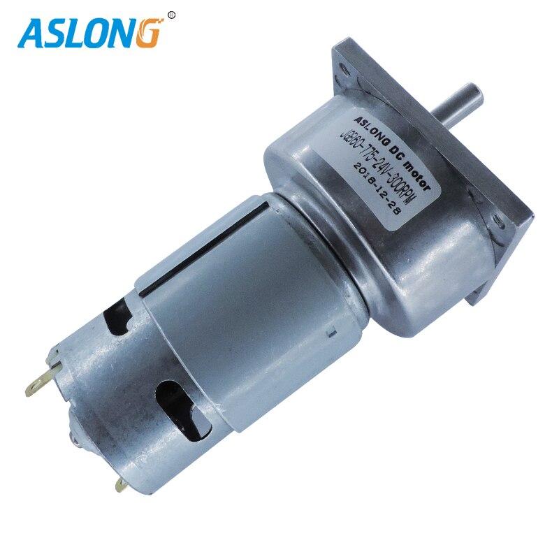 ASLONG factory supply JGB60-775 24V 775 DC MOTOR WITH 60MM GEAR BOX 300RPM HIGH TORQUE REDUCER MOTOR 8MM D TYPE SHAFT