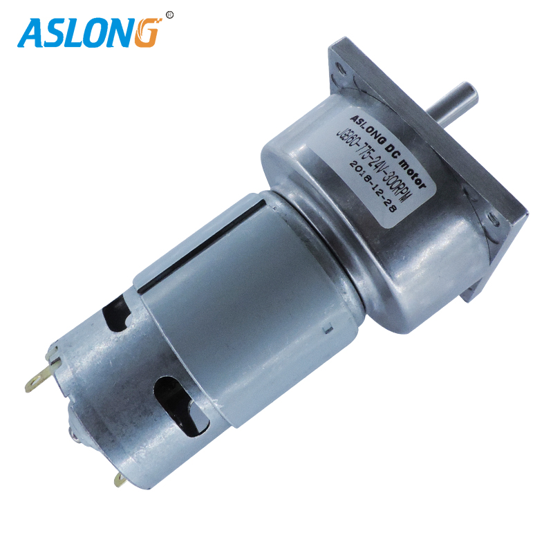 ASLONG factory supply JGB60-775 24V 775 DC MOTOR WITH 60MM GEAR BOX 300RPM HIGH TORQUE REDUCER MOTOR 8MM D TYPE SHAFT
