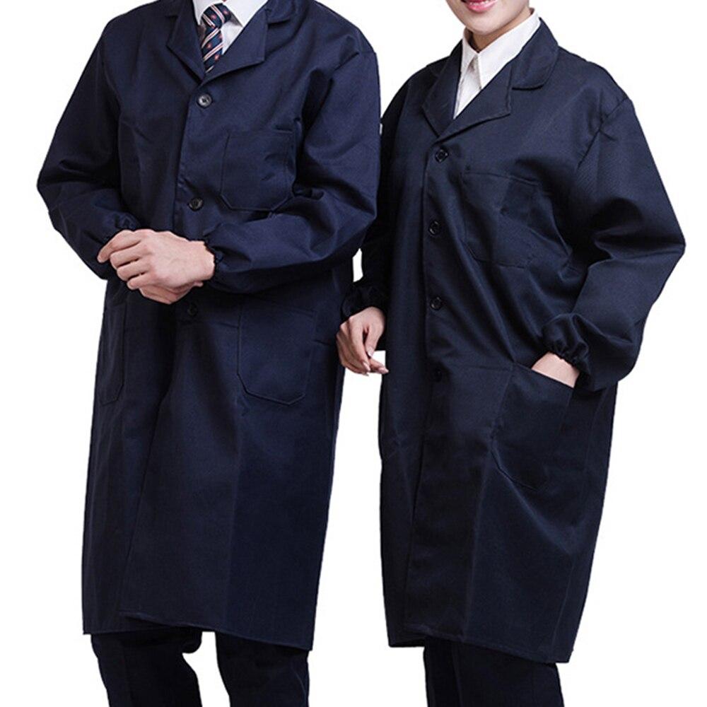 Unisex White Poly Cotton Lab Coat Adult Laboratory Warehouse Medical Work Coat