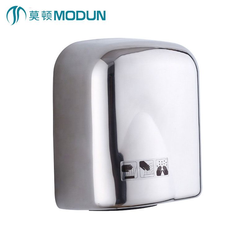 MODUN brand new chrome surface anti-vandal stainless steel 304 automatic hand dryer for hotel commercial bathroom modun manufacturer 2300w commercial wall mount high speed automatic hand dryer