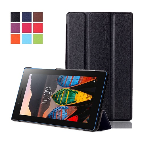 Magnet stand cover case for Lenovo tab 3 7.0 710 essential tab3 710F PU leather cover protective case+free gifts new for lenovo yoga 710 15isk 710 15 bottom base cover case am1ji000120
