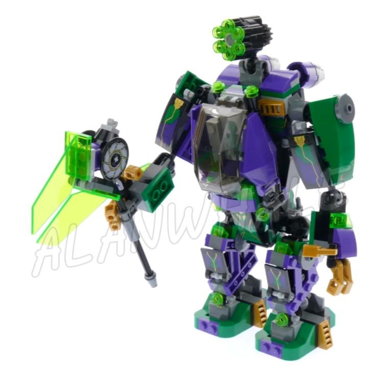 455pcs Super Heroes Lex Luthor Mech Takedown Escape Pod Bat-glider 07092 Model Building Blocks Toys Bricks Compatible With lego