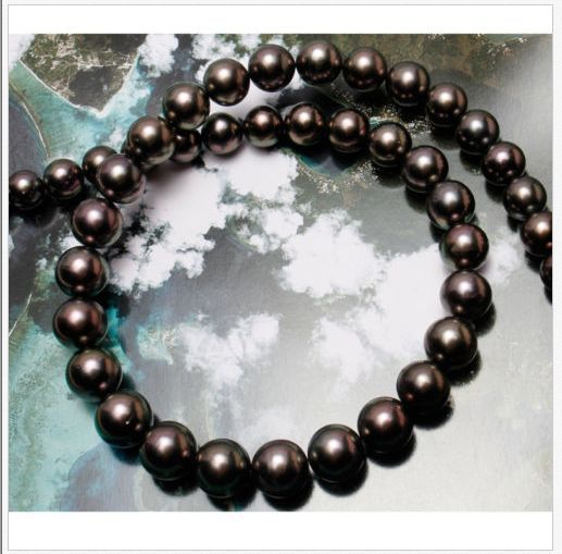 stunning AAA 9-10mm tahitian black red pearl necklace 18inch 925 silver hot sale new style genuine 9 10mm tahitian black pearl necklace 18inch
