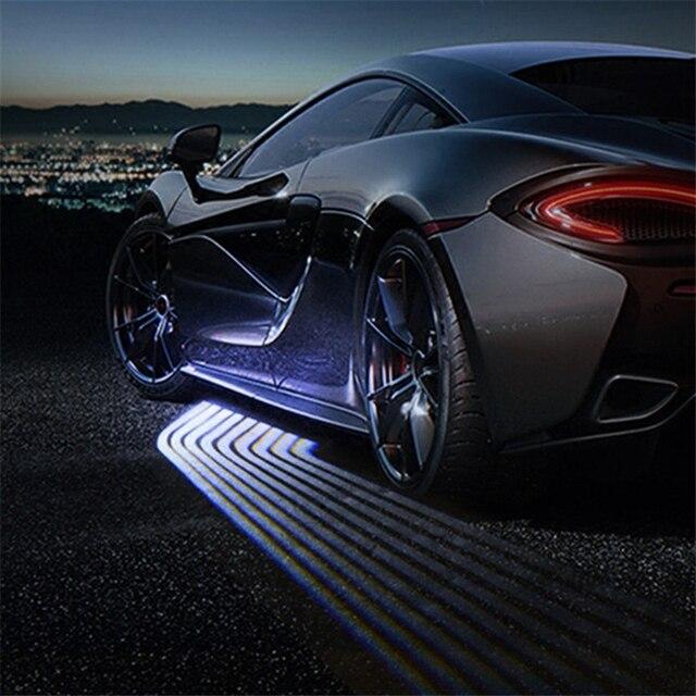 SRXTZM Partol 2 قطعة سيارة أجنحة الملاك ترحيب ضوء الظل مصباح إضاءة سيارة ليد الباب تحذير ضوء مصباح يناسب جميع المركبات