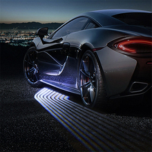 SRXTZM Partol 2Pcs Car Angel Wings Welcome Light Shadow Light  Car LED Door Warning Light Lamp Fits For All Vehicles