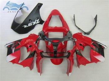 Custom Motorcycle fairing kit for KAWASAKI Ninja ZX9R 2002 2003 road racing plastic fairings set 02 03 ZX 9R red black bodyworks