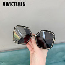 Vwktuun borboleta óculos de sol feminino moda praça óculos de grandes dimensões irregulares máscaras uv400 pontos masculinos grandes esporte condução eyewear