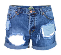 LIENZY Summer Sexy Hole Short For Women With Low Waist Trousers Female Denim Short Feminino Jeans