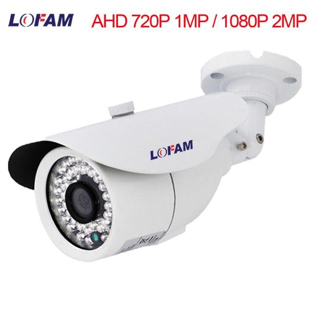 LOFAM מעקב מצלמה 720 p 1080 p AHD מצלמה יום ראיית לילה טלוויזיה במעגל סגור מצלמה AHD 1MP 2MP IR חיצוני אבטחה עמיד למים מצלמה