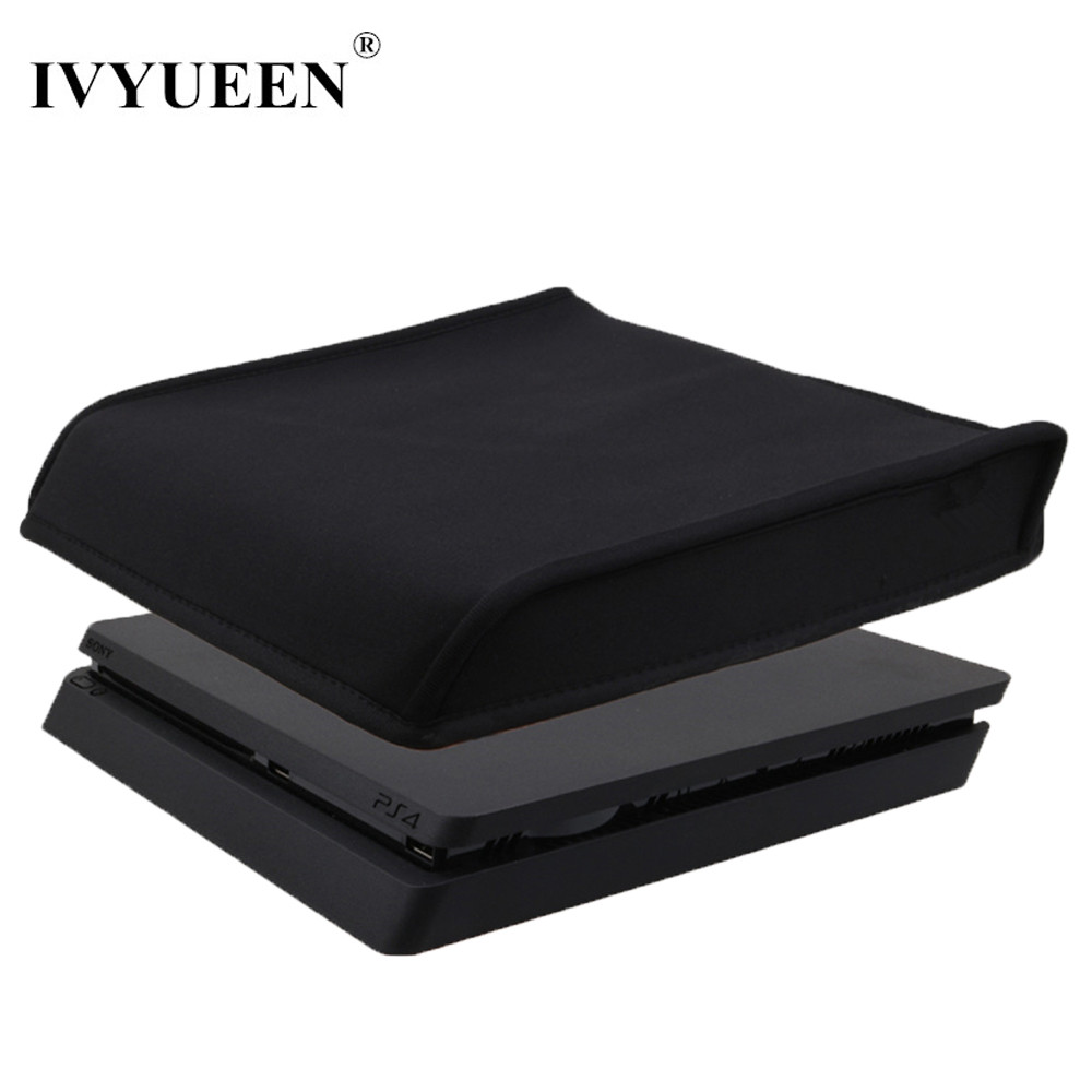 IVYUEEN DustProof Cover Case For Sony Playstation 4 PS4 Slim Console Soft Dust Proof Neoprene Cover Sleeve For Horizontal Place