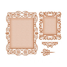 DiyArts Lace Frame Metal Cutting Dies Scrapbooking for Card Making DIY Embossing Cuts Dies Craft Die Square Pattern New 2019 square board with small grove pattern cutting die