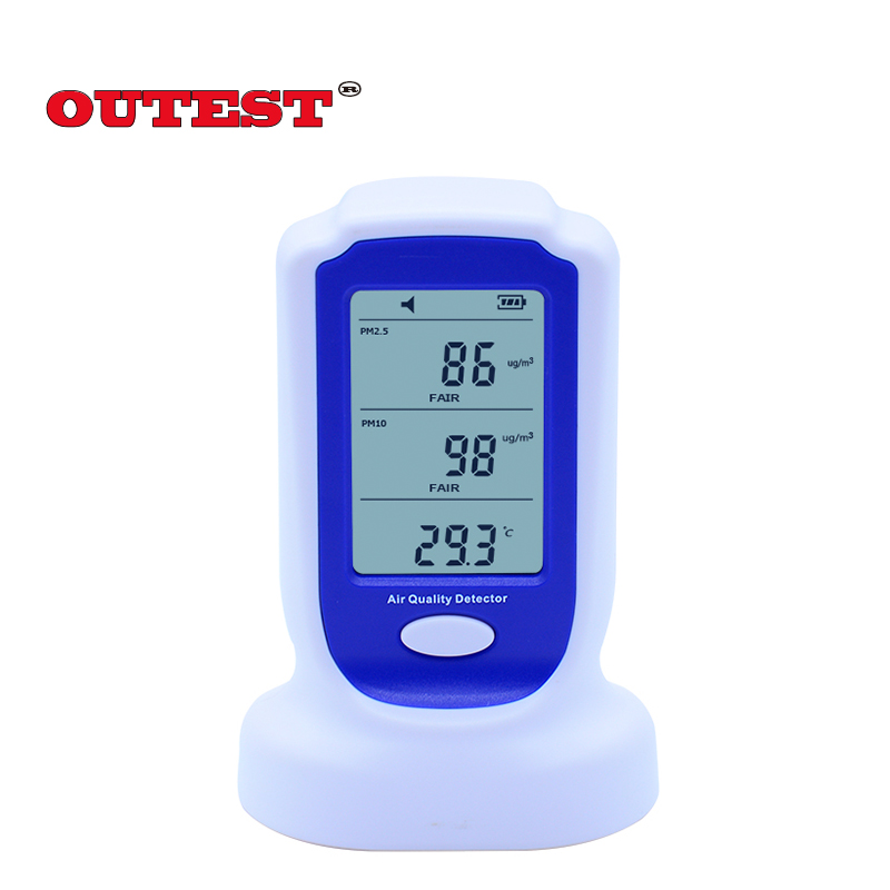 Household Digital PM2.5 PM10 air quality pollution detector monitor sensor GM8803 air quality detector +Rechargeable battery digital indoor air quality carbon dioxide meter temperature rh humidity twa stel display 99 points made in taiwan co2 monitor