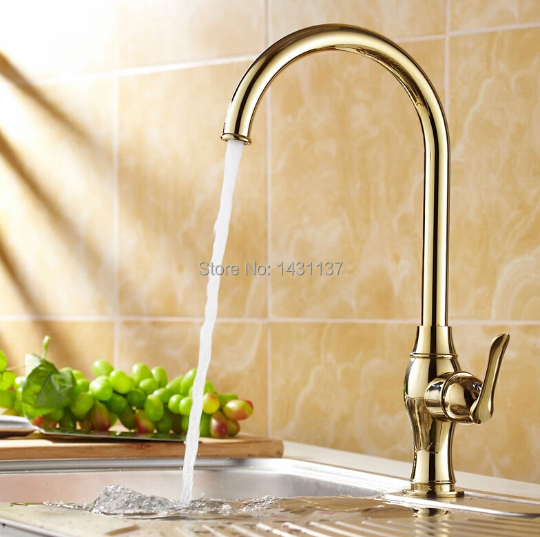 2016 new arrival Europe fashion high quality brass material gold finish cold and hot kitchen sink faucet basin faucet high quality europe style brass material