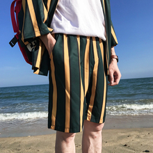 цены Elastic Waist Back Pocket Striped Shorts Men 2018 Summer Beach Shorts  3 Colors