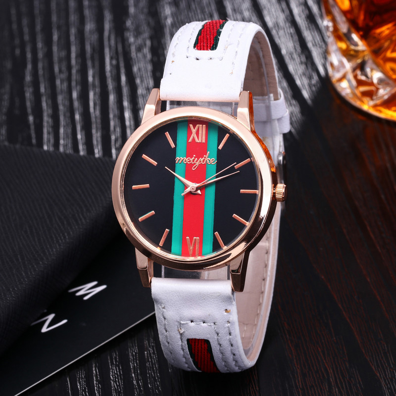 Mdnen Classic Fashion Stripe Women Watch Couple Luxury Brand Men Quartz Wrist Watch Lady Watch Montre Femme Horloge Saat ClockMdnen Classic Fashion Stripe Women Watch Couple Luxury Brand Men Quartz Wrist Watch Lady Watch Montre Femme Horloge Saat Clock